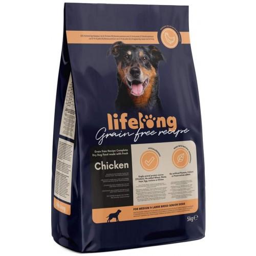 Crocchette di pollo per cani adulti, 5 Kg-  Lifelong