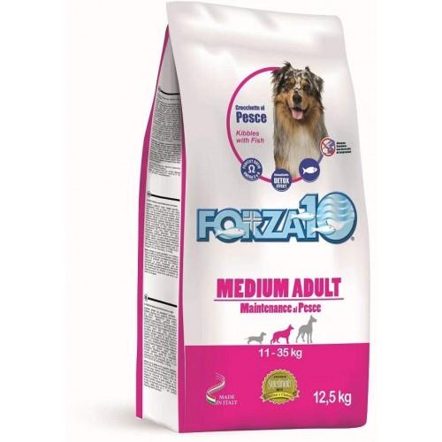 Crocchette per cani - Forza 10 Medium Adult al pesce, 12,5 Kg
