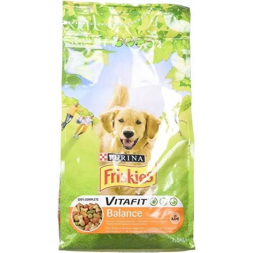 Crocchette per cani con Pollo e Verdure - Friskies Vitafit Balance da 1,5 Kg