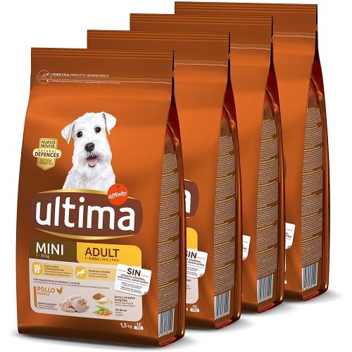 Crocchette per cani con Pollo, Ultima, 4 confezioni da 1,5 Kg