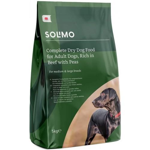 Crocchette per cani adulti ricco di manzo con piselli - Solimo, da 5 Kg