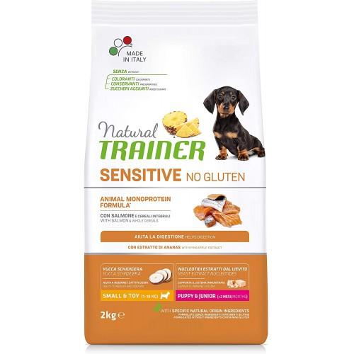 Crocchette per cani piccoli, salmone e cereali integrali - Natural Trainer No Gluten