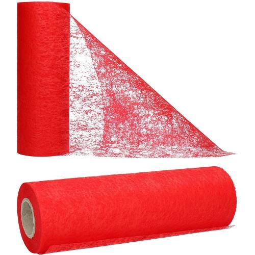 Runner da tavolo in tessuto rosso, per Laurea, Natale o Matrimonio