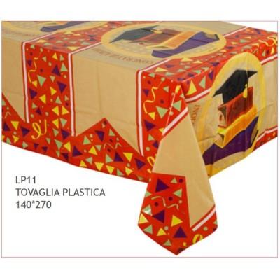 Tovaglia in PVC festa laurea da 140 x 270 cm, decorazione tavola