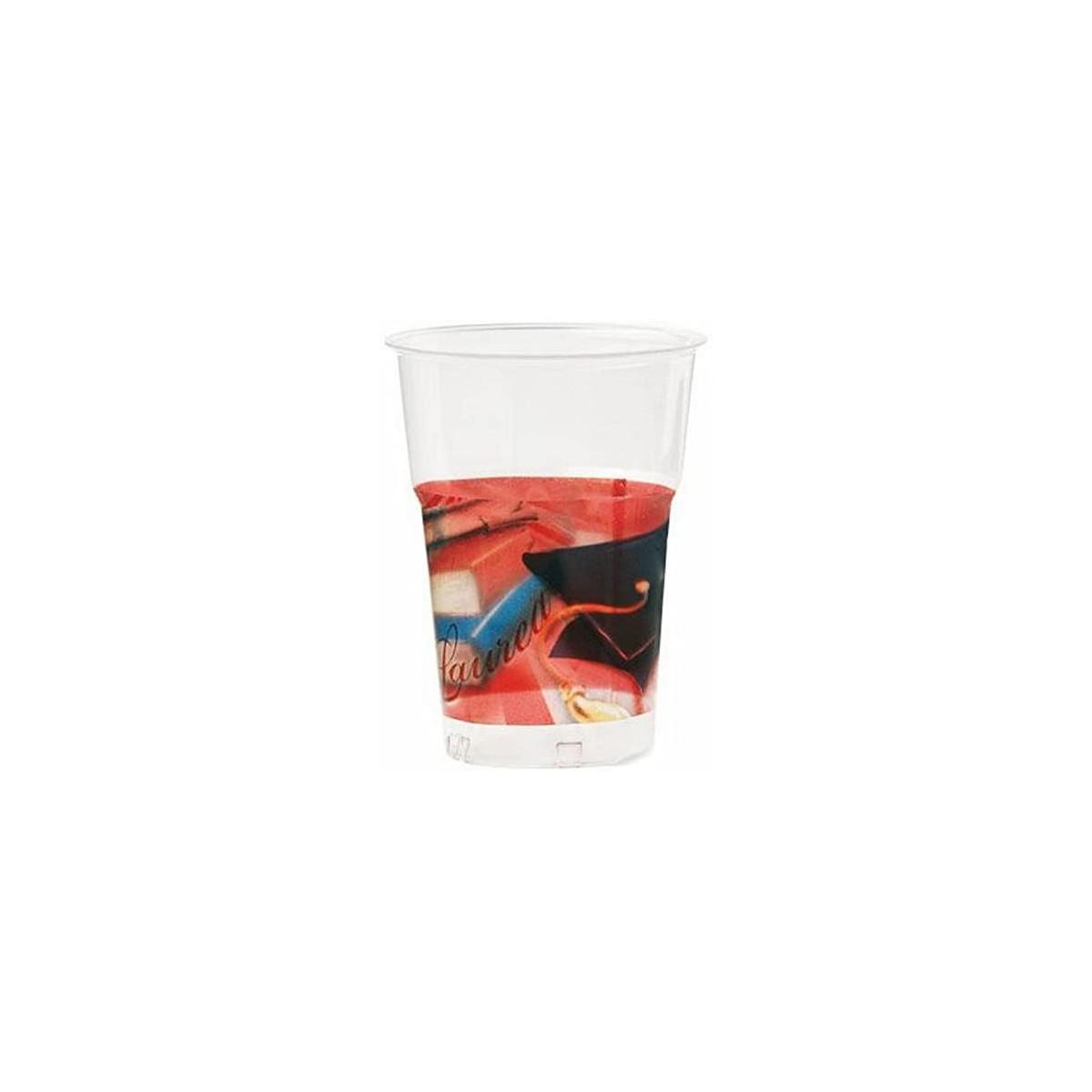 Set 10 bicchieri Laurea in plastica, per feste