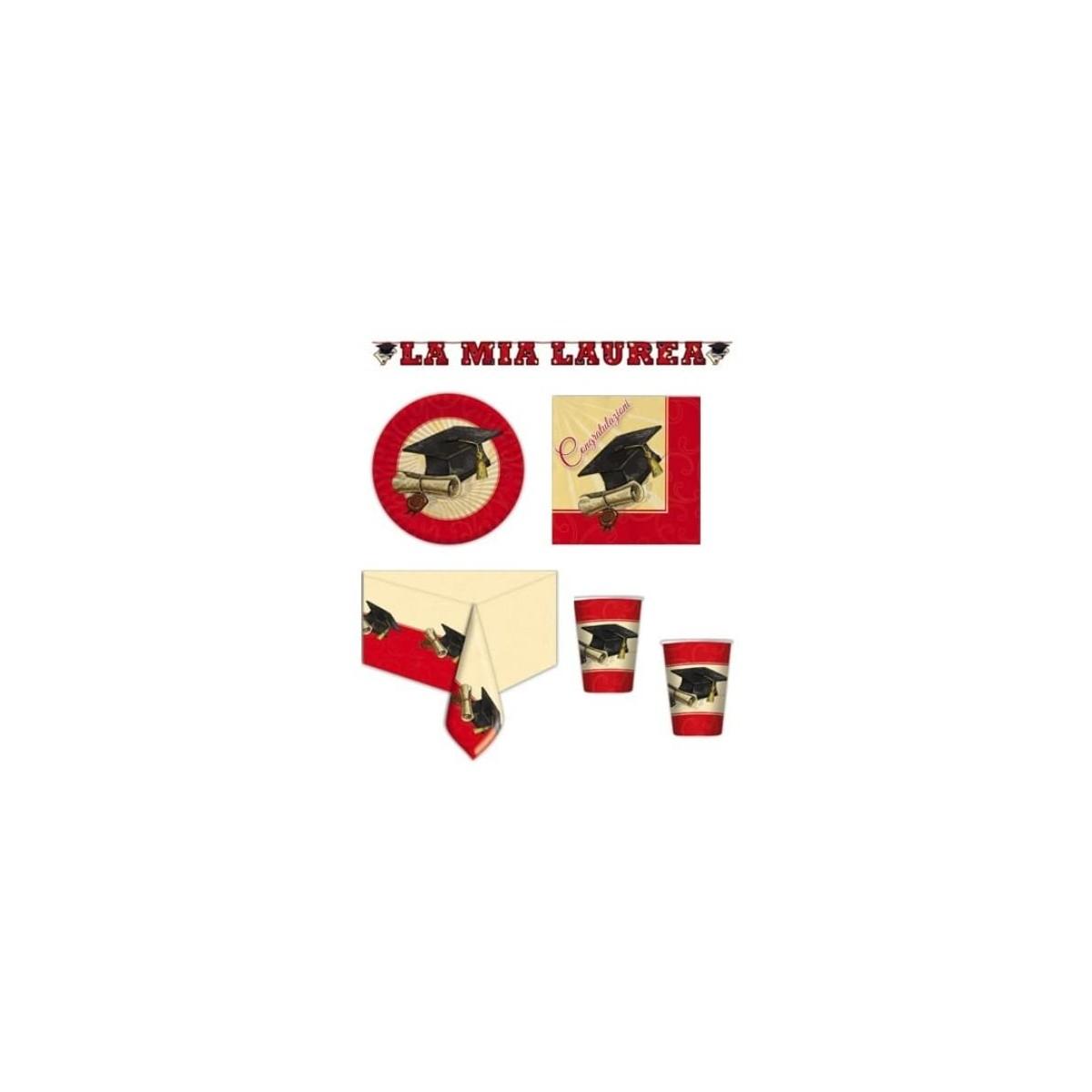 Kit per 50 persone festa Laurea, coordinato completo