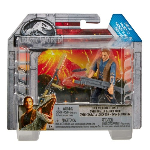 Jurassic World- Owen Battaglia di Lockwood Personaggio da 10cm con Accessori, Multicolore, FMM07