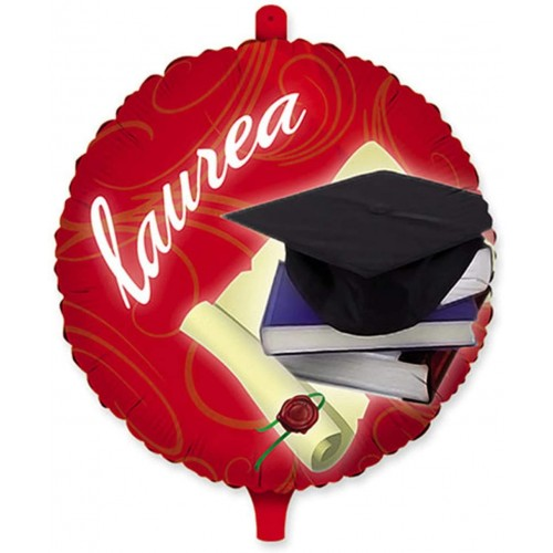 Foil tondo palloncino Laurea da 45 cm, in mylar, per feste
