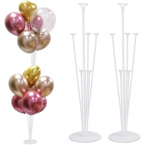 Set 2 Supporto da tavolo per palloncini, altezza 70 cm, accessorio per feste
