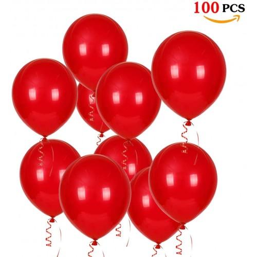 Kit 100 Palloncini da 12 Pollici rossi, circa 30 cm