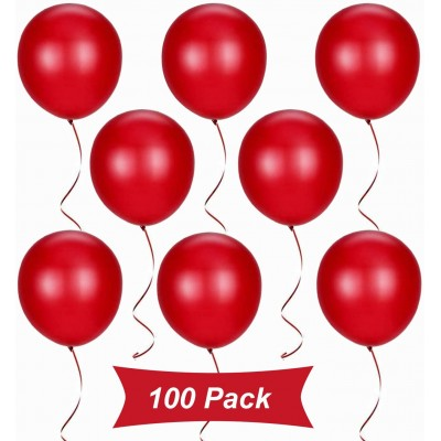 Kit 100 Pezzi Palloncini in lattice rossi da 30 cm, per feste romantiche