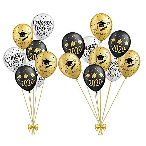 Set 15 palloncini  festa di Laurea assortiti, da 30 cm, per feste