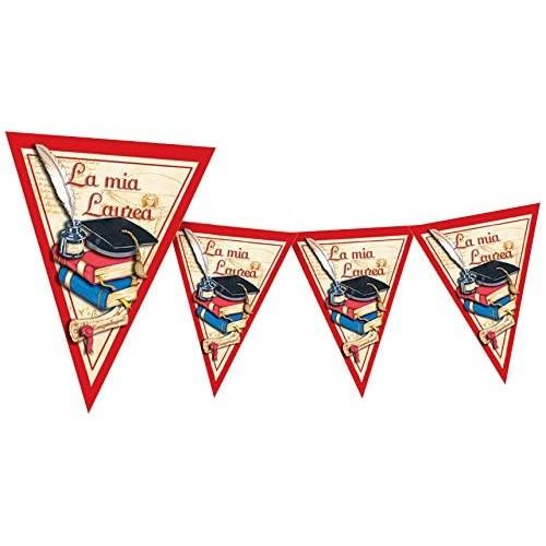 Festone bandierine Laurea, accessorio per feste