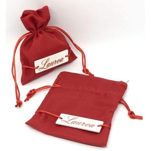 Set 12 sacchetti portaconfetti rossi da 10x12cm per bomboniere Laurea