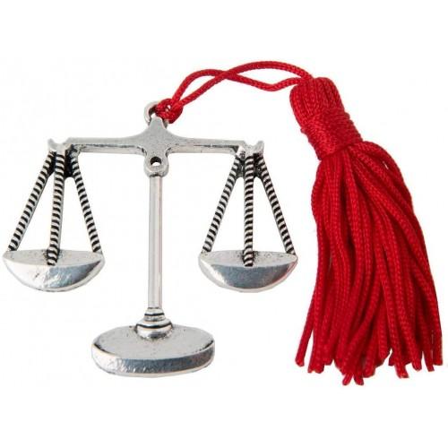 Set 12 Ciondolo Bilancia laureato in Legge, bomboniere laurea