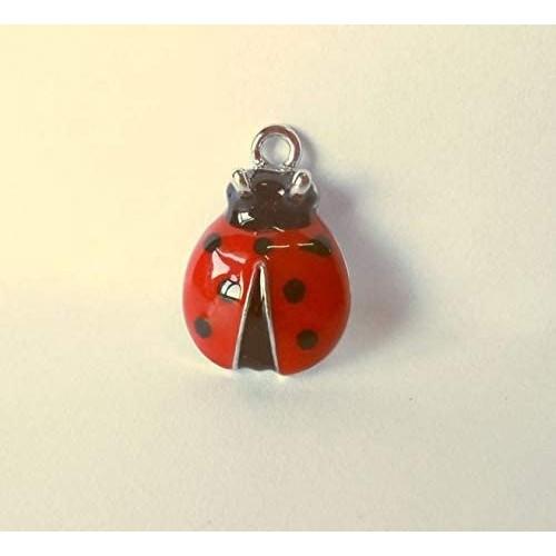 Set da 12 coccinelle in metallo smaltato rosso, per bomboniere Laurea