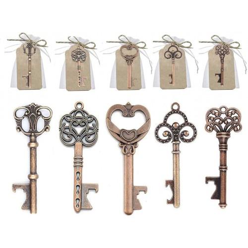 Set da 50 Apribottiglie a chiave, vintage,  per bomboniere originali