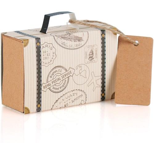 Set da 100  Scatoline valigia per viaggio, per bomboniere