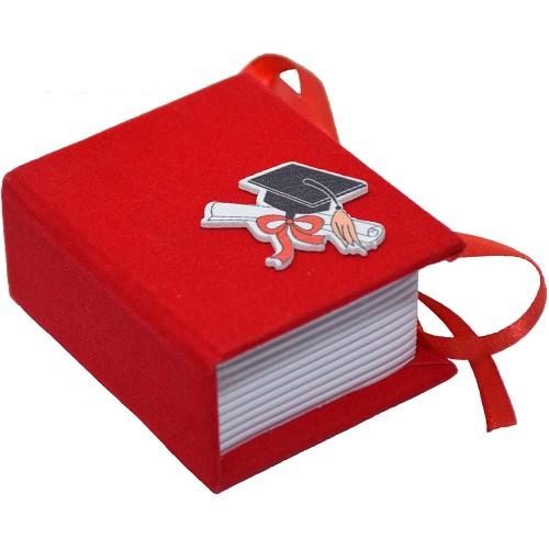 Set da 24 scatoline design Libro in cartoncino vellutato, per laurea