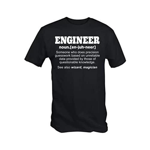 T-shirt - Uomo scritta Engineer, gadget laurea