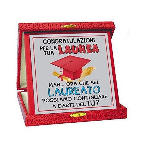 Targhetta Congratulazioni per La tua Laurea, simpatica e originale