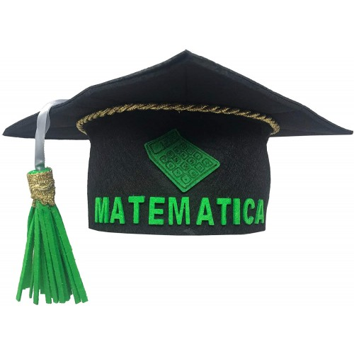 Tocco laurea in feltro per Matematica, accessorio per feste
