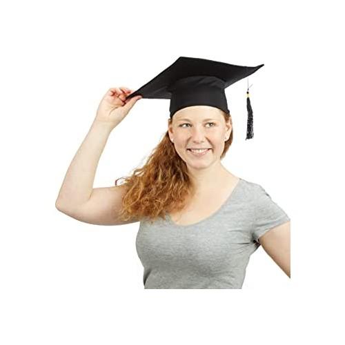 Cappello tocco Laurea classico, nero, taglia unica