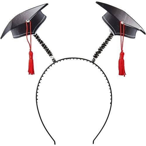 Cerchietto con cappelli da laureato, con tocchi e nappine