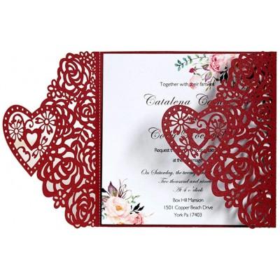 Set da 10 inviti per laurea o matrimonio da 15,9 x 15,9 cm