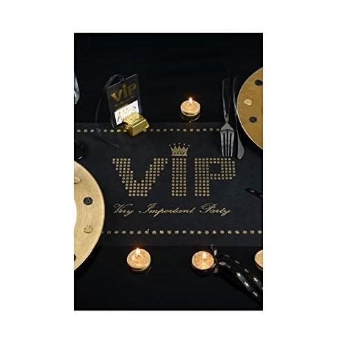 Runner da Tavolo Vip Party in tessuto, accessorio per feste