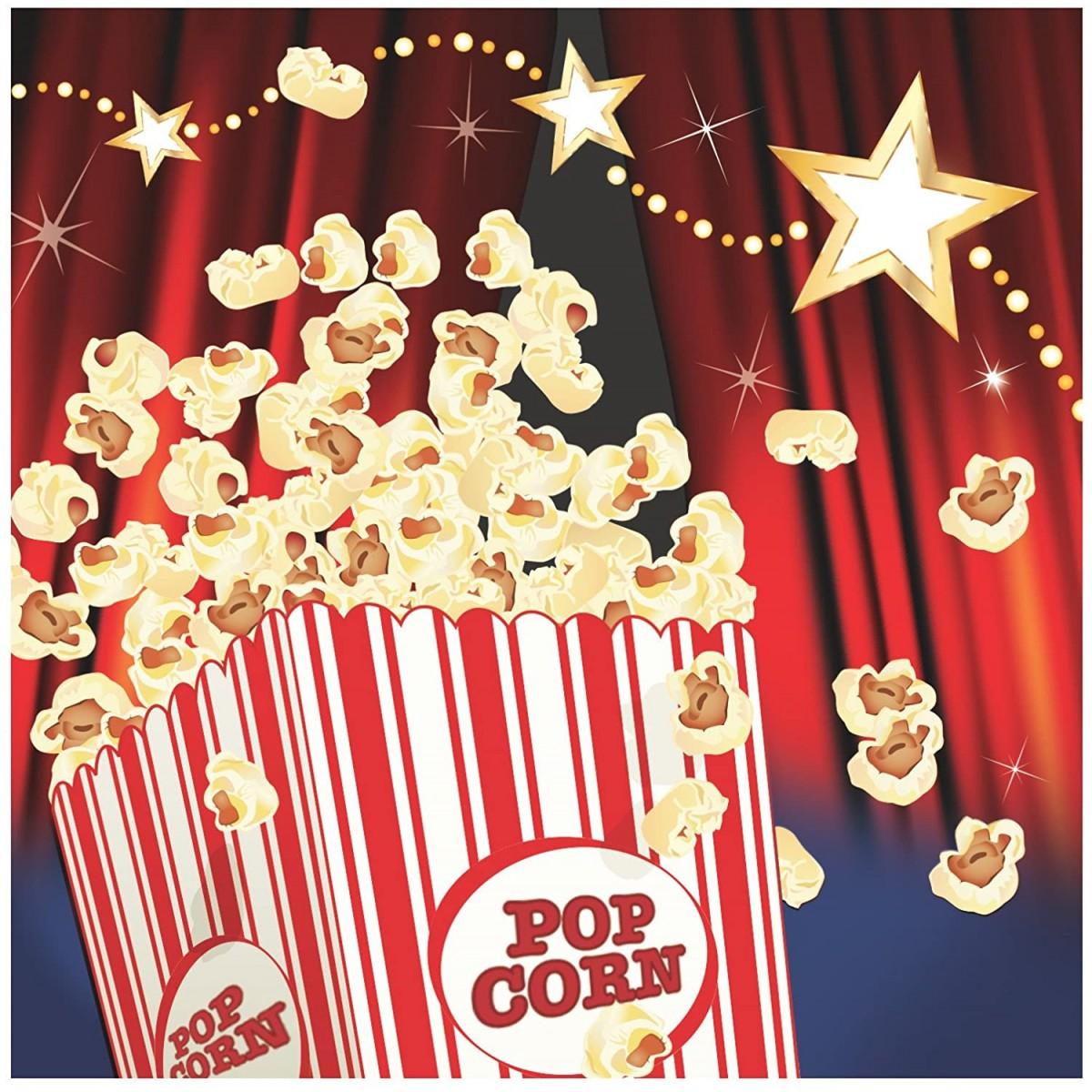 Conf. 16 tovaglioli Hollywood party, accessorio per feste