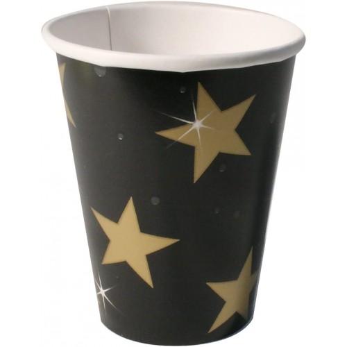Confezione da 8 Bicchieri di Carta Hollywood, 266 ml