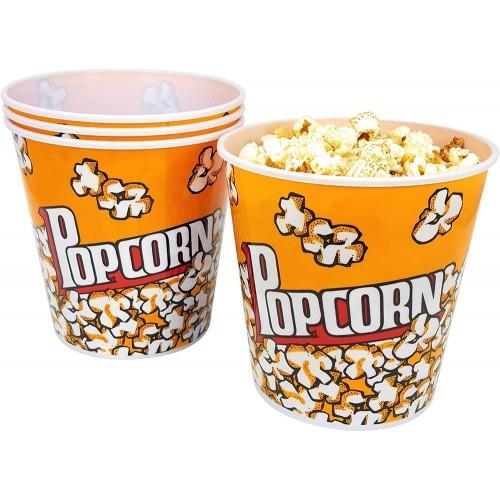 Set da 4 Secchio per Popcorn da 2,8 lt, in cartoncino