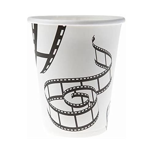 Set da 10 bicchieri cinema, monouso, per feste