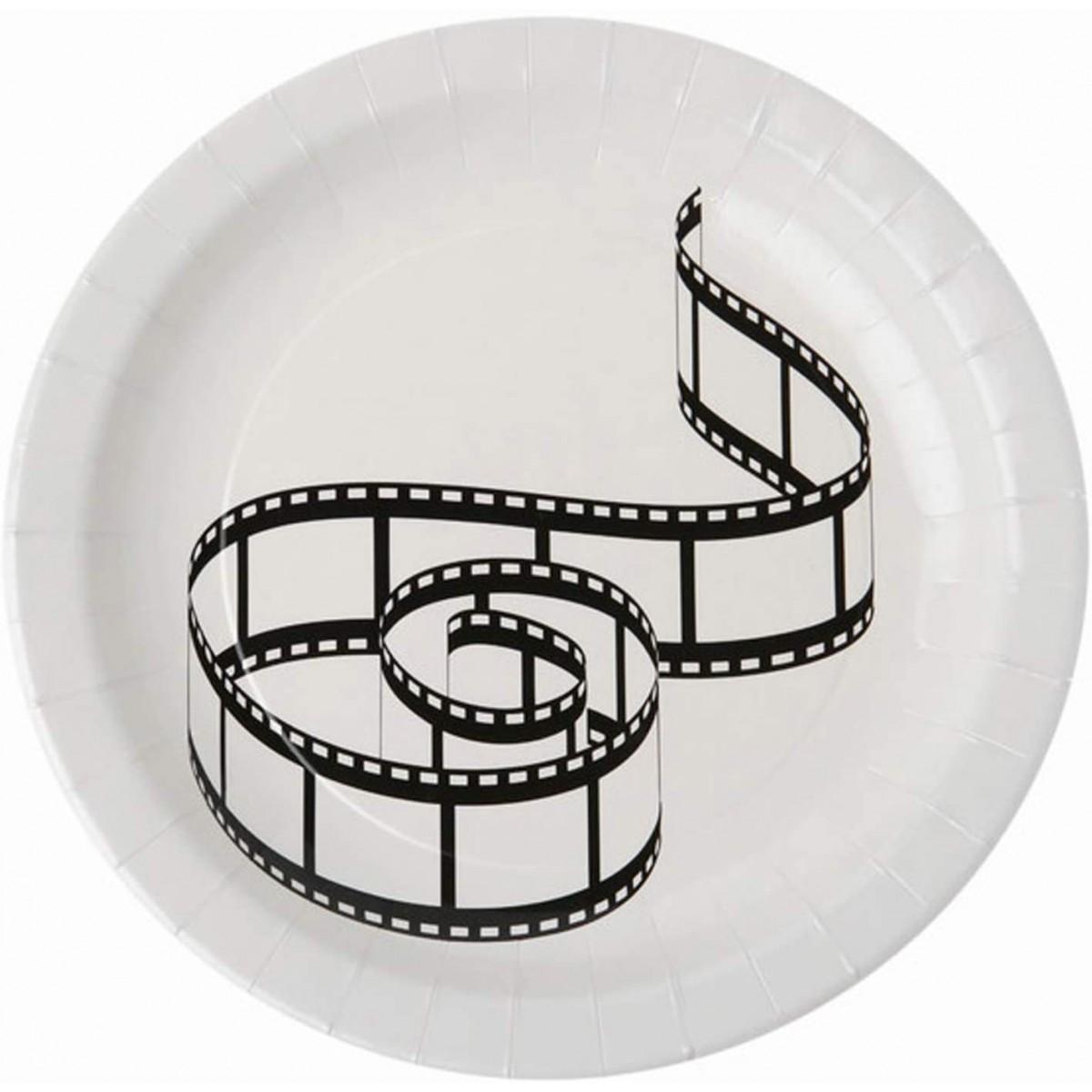 Set da 10 piatti Cinema, da 23 cm, usa e getta