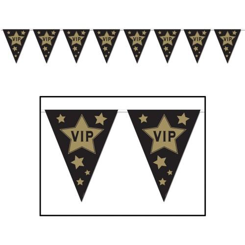Festone bandierine VIP Party, accessorio da appendere