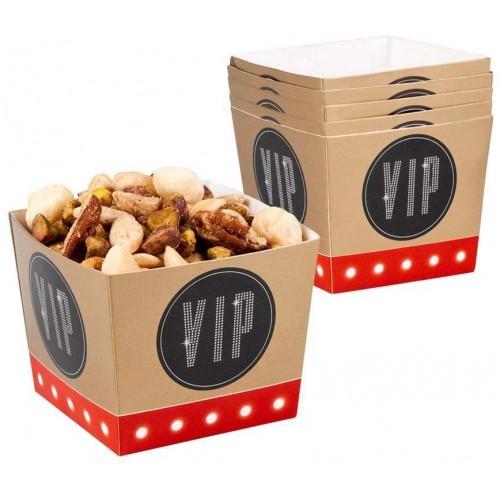 Set 6 Ciotole per Aperitivo VIP Party, in cartoncino, per feste