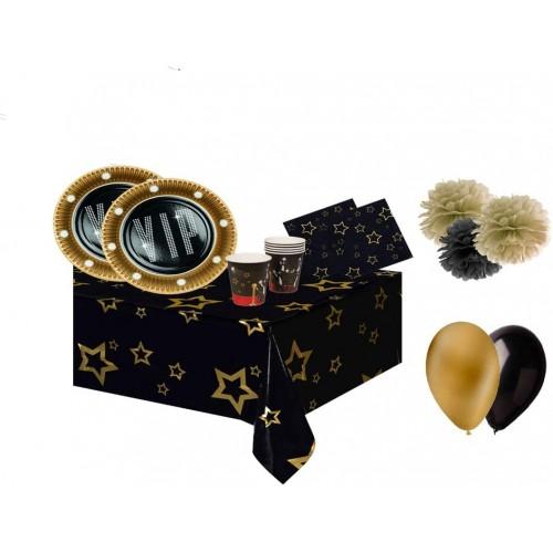 Kit per 6 persone VIP Party, con stoviglie e decorazioni