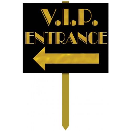 Cartello con scritta VIP Entrance, accessorio per feste