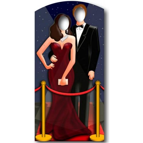 Cartonato per foto Coppia hollywoodiana sul Red Carpet, per foto indimenticabili