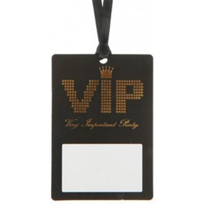 Set da 10 - Pass VIP con nastro ed etichetta, 7 cm x 10 cm
