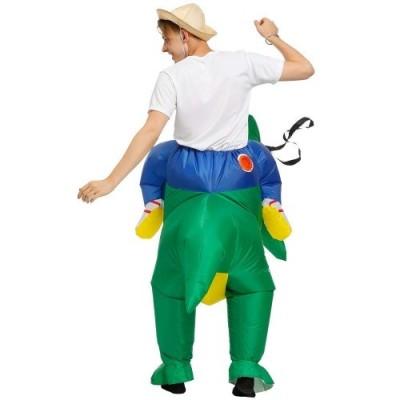 LSGNB Abbigliamento Gonfiabile Dinosauro Supporto for Dinosauro Vestiti di Parodia della Festa di Natale di Halloween Color