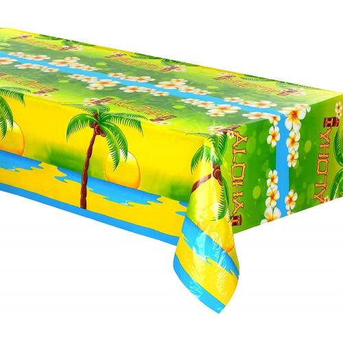 Tovaglia in plastica Aloha da 270 x 135 cm, festa Hawaiana