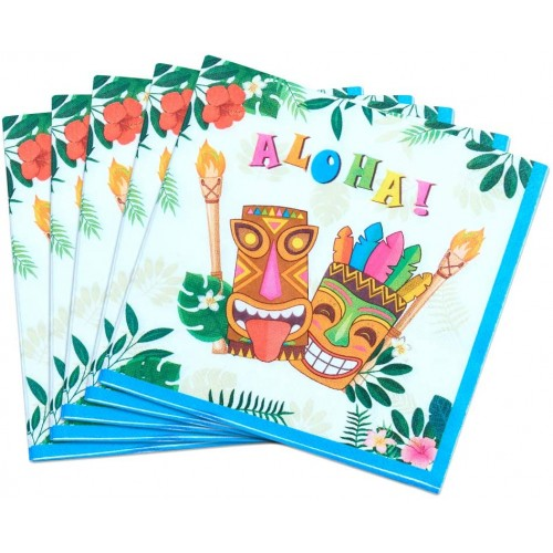 Set da 50 tovaglioli tema Hawaiano Luau
