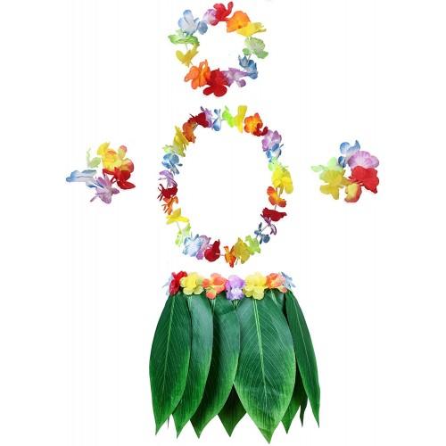 Set costume e accessori tema Hawaii da 5 pezzi