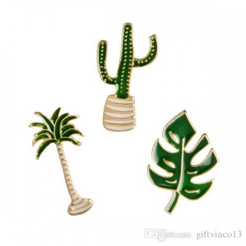 Set 3 Spille forma Cactus e albero di cocco, accessori per festa