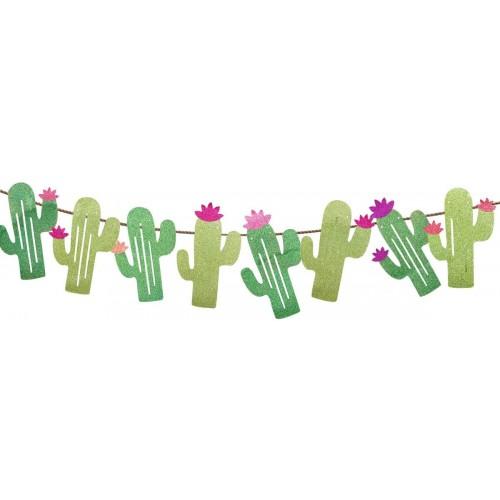 Festone Cactus per Festa Hawaiana, ghirlanda in cartoncino