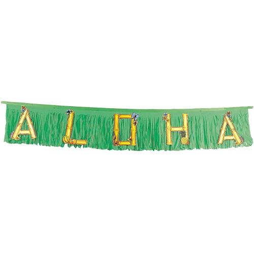 Festone Aloha verde per feste Hawaiane, da 1,5 metri