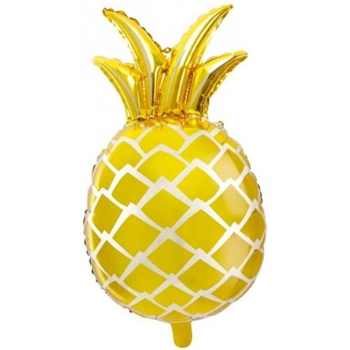 Palloncino Mylar Ananas dorato Festa Hawaiana da 38 x 63 cm