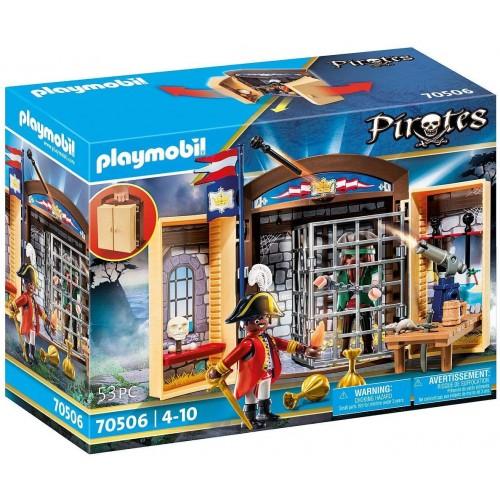 Playmobil - Avamposto della Marina con Pirata, giocattolo per bambini